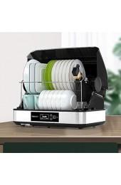 Wärmegeräte 70 □ Automatisches Trocknen- und Reinigungsschrank 45L-Hochleistungs-Ultraviolett-Desinfektion Geschirrschrank Edelstahl-Geschirr-Desktop-Geschirr Desinfektionsschrank 350W Stromverbrau