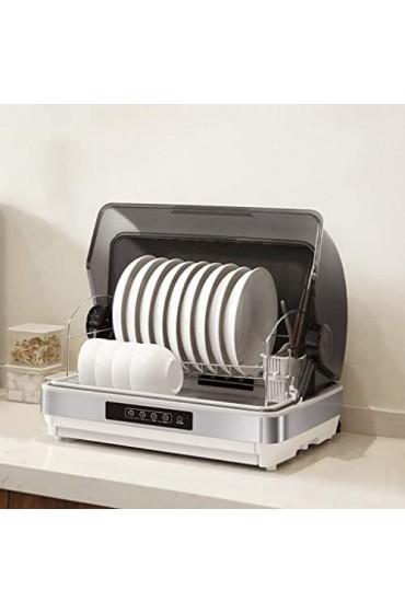 Wärmegeräte Ultraviolette Hochtemperatur-Desinfektionsgeschirrtrockner Desktop-Küchen-Edelstahl-Dishack-Rack und Geschirr-Maschine ein kleiner kleiner Flip-Desinfektionsschrank 95 □ Hochtemperatur