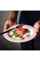 zvcv Marmorplatte Keramik Western Dish Steak Dish Kreative Platte Europäische Kreative Geschirr Pink 8 Zoll