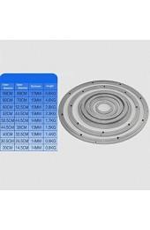 Drehplatte Aus Aluminium Rund Drehbar Drehteller Lazy Susan Mit Kugellager Für Esstisch Mit Super Starkem Silikon rutschfeste Matte(20-60 cm)