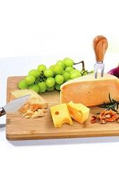 MQ KÄSEPLATTE Bambus 18 x 37 5 cm Brett Tablett Servierplatte cheese ü2ü 957 3331