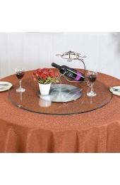 N/Z Tägliche Ausrüstung Plattenspieler 24 40-Zoll-Hotel-Esstisch Gehärtetes Glas Hochleistungs-Rundtischfuß 60 100-cm-Glas-Lazy-Display-Drehplatte