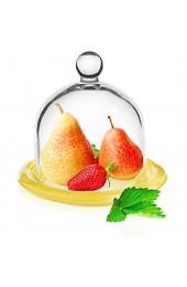 Zitronenglocke Käseglocke Käseplatte Spring Pink D 10 cm Hochwertige Glasglocke auf Servierteller