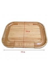 ZXQC Bambus-Käse-Board Mit Ripping-Schubladen Natürliche Hölzerne Lebensmittel Die Platten Und Tabletts Fleisch Und Cracker Serviert Charcuterie-Besteck (Size : 44X30X3.5cm)