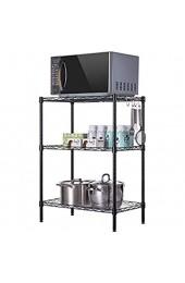 GY Küchenregale Verstellbarer Regalboden Badezimmer-Lagerregal Finishing-Rack Dreischichtiges Regal aus Metall /+-+/