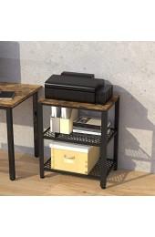 IRONCK Küchenwagen Servierwagen Grilltisch Rollwagen für Küche 3 Ablagen Industrie Holz-Look Möbel mit Metallrahmen