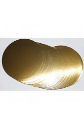 10 Stück Tortenunterlagen Pappe rund Ø 32cm goldfarben Tortenplatten einseitig mit Folie beschichtet verhindert Durchnässen