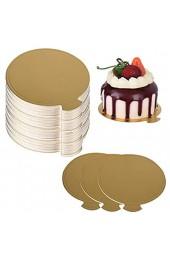 100 Stück Cake Board Rund Kuchenplatte Tortenunterlage Tortenplatte Cake Board Sets Kuchenplatte Tortenplatte Cake Deko für Kuchen Desserts Brot 90mm