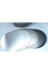 200 Stück Tortenunterlagen Tortenscheiben Pappe rund Ø 28cm silber Tortenplatten einseitig mit Folie beschichtet verhindert Durchnässen