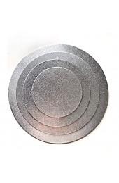 4 Cake Board ( Ø 15 20 25 30 cm ) Cake Drum 3 MM beschichtet Kuchenplatte Tortenplatte Cakeboard Tortenunterlage Ausstecher Fondant Silber RUND