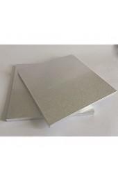 4 Cake Drum Tortenplatte 25 5/30 5/35 5/40 5 cm ECKIG Cake Board 10-13mm Stärke Tortenunterlage Ausstecher Fondant SILBER