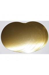 5 Stück Tortenunterlagen Pappe rund Ø 24cm goldfarben Tortenplatten einseitig mit Folie beschichtet verhindert Durchnässen