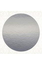5 x Tortenuntersetzer zweiseitig - GOLD-SILBER spiegelnd - rund - 39 cm Ø Tortenscheibe