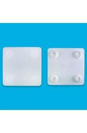 Cake Company Tortenplatte SQPS-15 Platte eckig 37.5 cm 1 Stück | Tortenständer Stecksystem für Kuchen und Torten | Platten in verschiedenen Größen kombinierbar