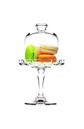 Creatable 17884 Serie Patisserie Mini Set 4 teilig Tortenplatten 4tlg Glas transparent 32 5x23 5x22 5