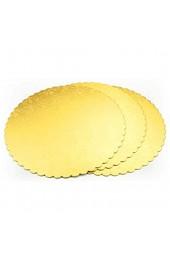Gold mit Prägung Tortenunterlage Rund 25cm