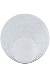 Kupink 4 Stück Cake Board Wiederverwendbare Cake Board Rund Oberfläche laminiert Aluminiumfolie für Kuchendekoration
