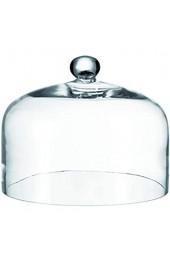 Leonardo Cupola Glocke mit Knopf Höhe 22 cm Durchmesser 29 cm handgefertigtes Klarglas 042619