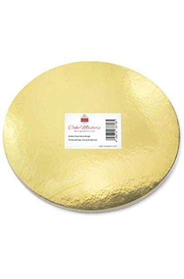 Pati-Versand 13719 Golden Plate 28cm gold glänzend 5 Stück stabile Tortenunterlage