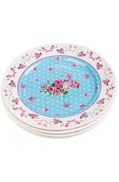 """Porzellan Fine China Seite Kuchen Dessertteller Rose Blue 8"""" 20cm"""