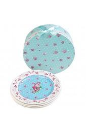 Porzellan Fine China Seite Kuchen Dessertteller Rose Blue 8 20cm