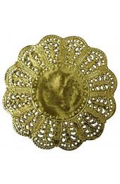 TAMLED Tortenspitzen rund 9 cm 100 Stück Gold