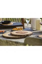 Artesà Natürliche Baumstammscheibe als Käse-/Servierplatte Mittelgroße Rustikale Runde Servierplatte für Belegten Broten Antipasti und Vorspeisen auf Partys Holz mit Rindenrand 30 x 2 cm – Rund