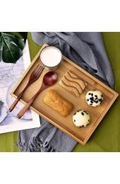 Bambus Tablett einfache Art rechteckige Frucht Tee Tee Serviertablett für Restaurant Home(28 * 19.5 * 3 cm)