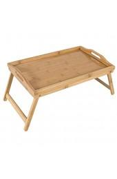 elbmöbel Betttablett Bambus Betttisch mit klappbaren Beinen Serviertablett für Frühstück als Beistelltisch und Knietisch pflegeleicht und abwaschbar (50x30x26)