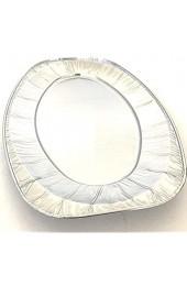 Extiff 10 ovale Aluminium-Schalen für Gebäck oder Buffet (35 1 x 24 3 x 2 cm)