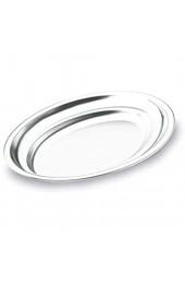 LACOR 61830 Buffet - Tablett oval 30 x 20 Silber 60.5 x 40.0 x 27.5 cm