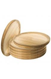 Ruibal - Holzteller Rund - Holzplatte - Kiefer - Set 6 - Ø 22 cm