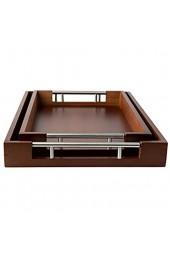 Bamboo Modern Tray Set - Brown