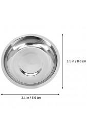 Cabilock 10 Stücke 8cm Metall Schälchen Edelstahl Mini Dipschalen Runde Servierschalen Dipschale Saucenschälchen Gewürzschale Snack Schälchen Obstbehälter für Sojasauce Dip Silber