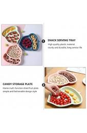 Hemoton 3 Stück Kunststoff Snack Teller/Unterteilter Teller/Geteilte Teller/Mahlzeiten Tabletts für Kinder und Erwachsene