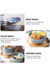 PIXNOR 3 Stück Obstschalen im japanischen Stil Salatschüsseln Keramiknudelschalen Geschirr für das Home Restaurant