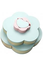SHYPT Doppellagige Snackbox Candy Plates Blütenblattform Rotierende Snackschale Getrocknete Obstteller Aufbewahrungsorganisator mit Handyhalter