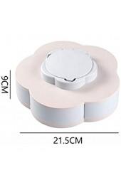 SHYPT Einschichtige Snackbox Candy Plates Blütenblattform Rotierende Snackschale Getrocknete Obstteller Aufbewahrungsorganisator mit Handyhalter (Color : A)