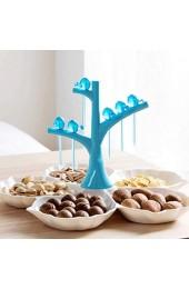 SHYPT Tablett Obstteller Schüssel Teller Geschirr Frühstückstablett mit Gabel Küche Haushaltswaren