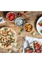Villeroy & Boch Pizza Passion Toppingplatte Set 4tlg. 50 x 13 5 x 5 5cm Bambus Premium Porzellan weiß 50 x 13.5 x 5.5 cm 4-Einheiten
