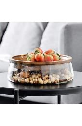 WPY Doppelter Obstteller glasgetrocknete Obstnüsse Holzteller Süßigkeitenschachtel Küchenbedarf Obsttablett Aufbewahrungsschachtel