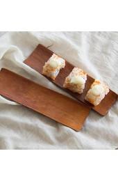 BESTonZON Holz Sushi Servierteller Sashimi Bambus Servierteller Japanische Bambus Sushi Brett Essen Serviertablett
