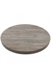 Bolero GR326 Tischplatte 48 mm 600 mm rund Vintage Holz