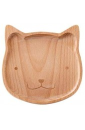 Breakfast Plate Geschirrcute Star Cat Bear Wooden Tray Breakfast Plate Home Baby Nutrition Meal Plate Fruit Nuts Candy Tray Baby Food Tray-Cat