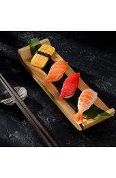 Cabilock Bambus Sushi Board Sushi Tablett Sashimi Serviertafel Tablett für zu Hause Japanische Restaurant (S)