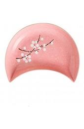 Goodvk Fruchtschale Japanische Mondplatte Teller Set Wiedervereinigung Platter Set Meeresfrüchte Obstteller Anwendbar für viele Situationen (Farbe : Pink Size : 22.8X17.8X3.2cm)