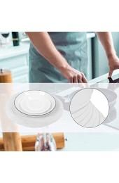 Wosune Food Plate Pad strapazierfähige Filzmatte für Home White Restaurant Küchenzubehör(White 24pcs)
