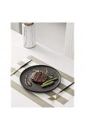 xiaod Teller4 Stück Teller Teller Messer Gabel Set Keramik Haushalt Peeling Steak