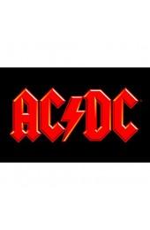 AC/DC Frühstücksbrettchen Kunststoff schwarz 23.3 x 14.4 x 0.2 cm