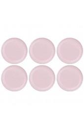CreaFlor Home 6er Set Frühstücksteller Brotteller MYNTE English Rose rosa D. 19 5cm Ib Laursen